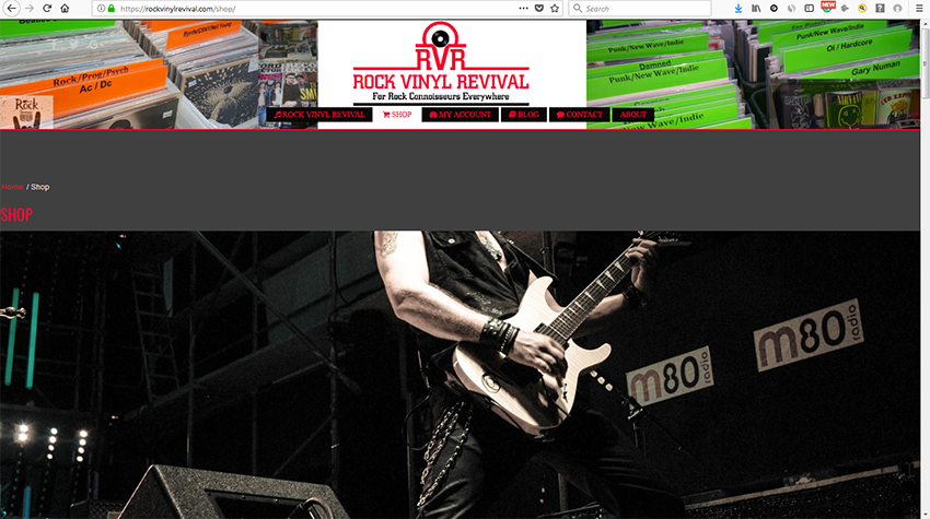 Rock Vinyl Revival - Ecomm website selling vinyl records